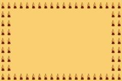 Modello della gelatina della cola su fondo giallo Fotografie Stock Libere da Diritti