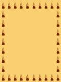 Modello della gelatina della cola su fondo giallo Immagine Stock
