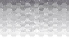 Modello della geometria di concetto con la linea illustrazione vettoriale