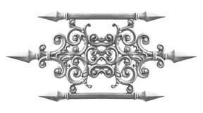 Modello della lega d'argento Fotografie Stock Libere da Diritti