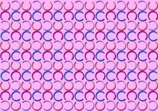 Modello della lettera C nel modello colorato differente delle tonalità illustrazione vettoriale