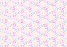 Modello della lettera D nel modello colorato differente delle tonalità illustrazione vettoriale