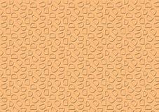 Modello della lettera D nel modello dell'ombra colorato pesca illustrazione di stock