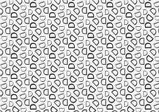 Modello della lettera D nel modello grigio colorato differente delle tonalità illustrazione di stock
