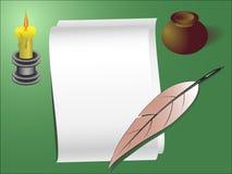 Modello della lettera di vecchio stile Immagini Stock Libere da Diritti