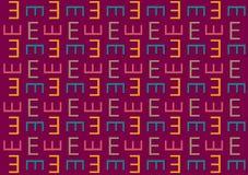 Modello della lettera E nel modello colorato differente delle tonalità illustrazione vettoriale
