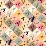 Modello della lettera a negli stili differenti Fotografia Stock