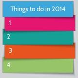 Modello della lista di risoluzione del nuovo anno di vettore Fotografia Stock Libera da Diritti