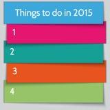 Modello della lista di risoluzione del nuovo anno di vettore Immagini Stock