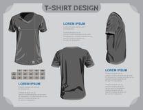 Modello della maglietta. illustrazione vettoriale