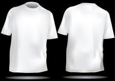 Modello della maglietta con la parte anteriore e la parte posteriore Fotografie Stock Libere da Diritti