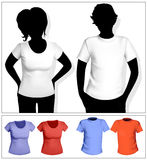 Modello della maglietta degli uomini e delle donne Fotografia Stock Libera da Diritti