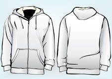Modello della maglietta felpata o del rivestimento illustrazione vettoriale