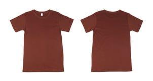 Modello della maglietta messo (parte anteriore, parte posteriore) Immagine Stock Libera da Diritti