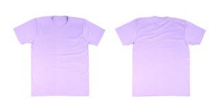 Modello della maglietta messo (parte anteriore, parte posteriore) Immagini Stock