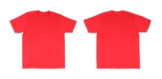 Modello della maglietta messo (parte anteriore, parte posteriore) Fotografie Stock Libere da Diritti