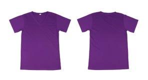 Modello della maglietta messo (parte anteriore, parte posteriore) Fotografia Stock Libera da Diritti