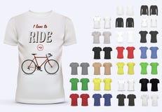 Modello della maglietta messo per gli uomini e le donne Fotografie Stock Libere da Diritti