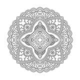 Modello della mandala del cerchio Immagini Stock