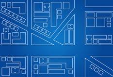 Modello della mappa della città Fotografia Stock Libera da Diritti