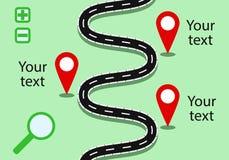Modello della mappa per la vostra insegna o infographic Immagini Stock Libere da Diritti