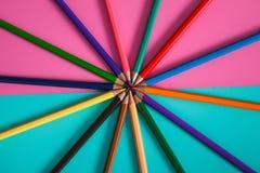 Modello della matita di colore per progettazione Immagine Stock