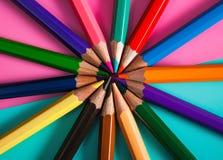 Modello della matita di colore per progettazione Fotografie Stock Libere da Diritti