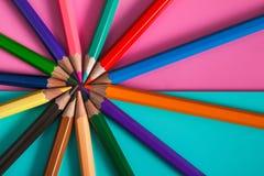 Modello della matita di colore per progettazione Fotografia Stock