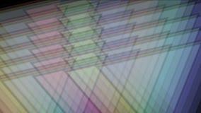 modello della matrice del mosaico del tangram del triangolo 4k, carta di plastica della carta, diamante di geometria frattale stock footage