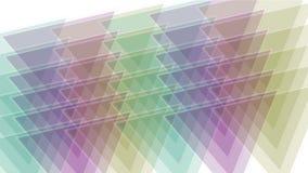modello della matrice del mosaico del tangram del triangolo 4k, carta di plastica della carta, diamante di geometria frattale video d archivio