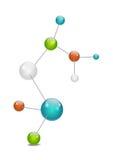 Modello della molecola illustrazione vettoriale