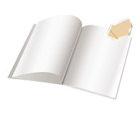 Modello della pagina in bianco dello scomparto per il disegno Fotografia Stock