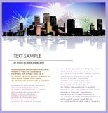 Modello della pagina di affari del fondo della città Immagine Stock