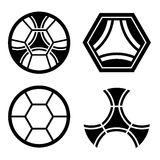 Modello della palla dell'emblema del club di calcio Fotografia Stock