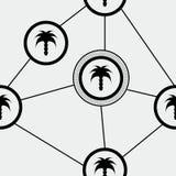 Modello della palma Fotografia Stock Libera da Diritti