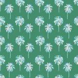 Modello della palma Modello senza cuciture dell'acquerello esotico Fotografia Stock