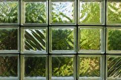 Modello della parete del blocco di vetro Fotografie Stock