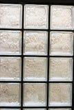 Modello della parete del blocco di vetro Fotografia Stock
