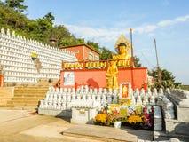 Modello della pietra buddista dei san, nello stile architettonico coreano, Fotografia Stock