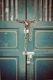 Modello della porta d'acciaio di allungamento Fotografie Stock Libere da Diritti