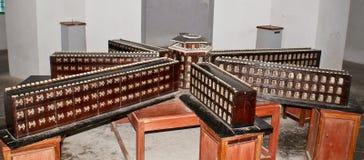 Modello della prigione cellulare originale a Port Blair Immagini Stock
