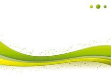 Modello della priorità bassa dinamica punti/dell'onda verde. illustrazione di stock