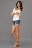 Modello della ragazza nello studio immagine stock libera da diritti