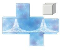 Modello della scatola blu Fotografia Stock