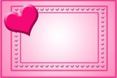Modello della scheda del biglietto di S. Valentino Fotografia Stock