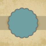 Modello della scheda del puntino di Polka dell'annata. ENV 8 Immagine Stock