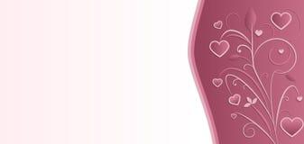 Modello della scheda dell'invito di cerimonia nuziale Immagini Stock Libere da Diritti