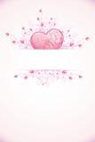 Modello della scheda di giorno dei biglietti di S. Valentino Fotografia Stock Libera da Diritti