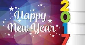 Modello della scheda di nuovo anno felice Fotografia Stock