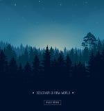 Modello della siluetta della foresta di conifere royalty illustrazione gratis